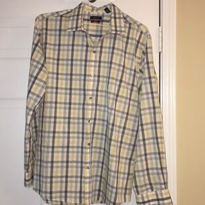 Van Heusen Shirts - Van Heusen Dress Shirt Plaid Large Slim Fit L Used